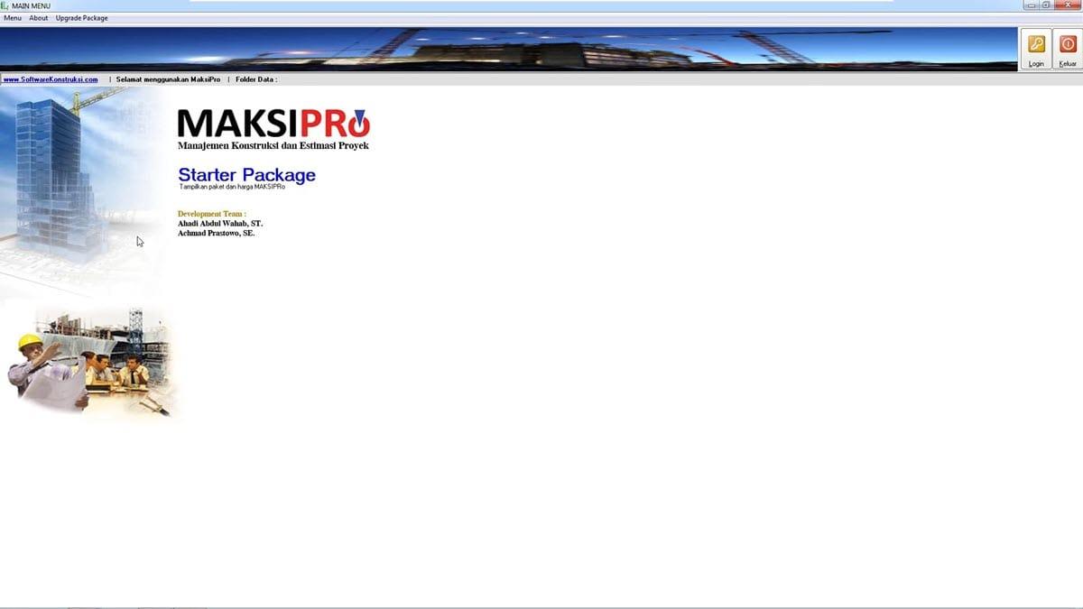 Software RAB MAKSIPro Manajemen Konstruksi dan Estimasi Proyek