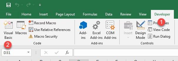 Excel Developer Visual Basic