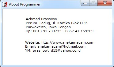 About Programmer