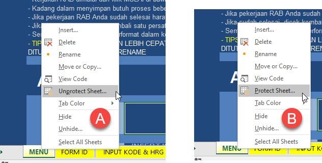 Sebelum dan Sesudah Unprotect Excel