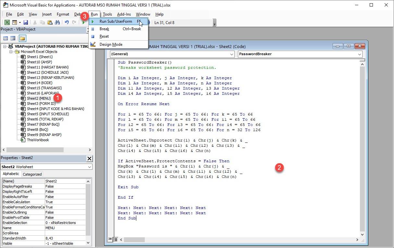 Visual Basic Run